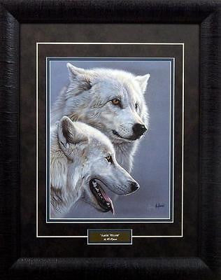 Al Agnew Arctic Wolves Art Print Framed -Signed