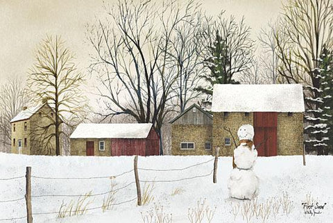 Billy Jacobs First Snow Snowman Art Print 18 x 12