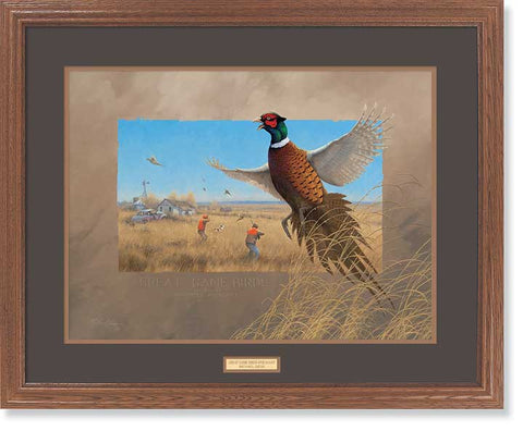 Michael Sieve Game birds Pheasants Framed Print