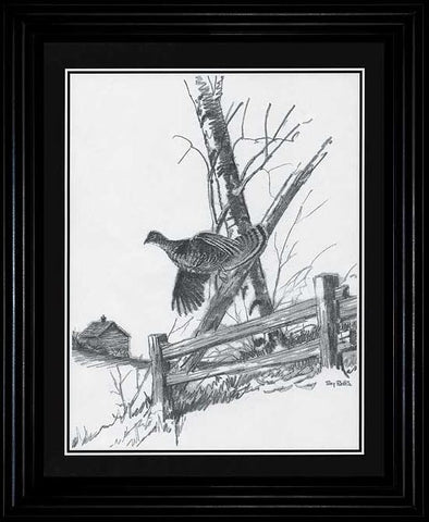 Terry Redlin Ruffed Grouse Pencil Sketch