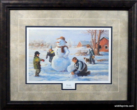 Mary Pettis Frosty- Framed