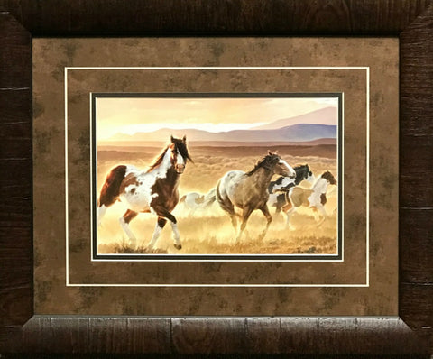 Nancy Glazier Domino Horse Art Print-Framed