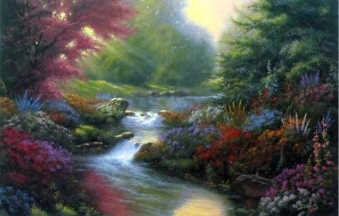 Artist Derk Hansen Floral Garden Art Print Secret Creek