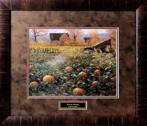 Jon McNaughton Harvest Memory Pumpkin Patch Art Print-Framed