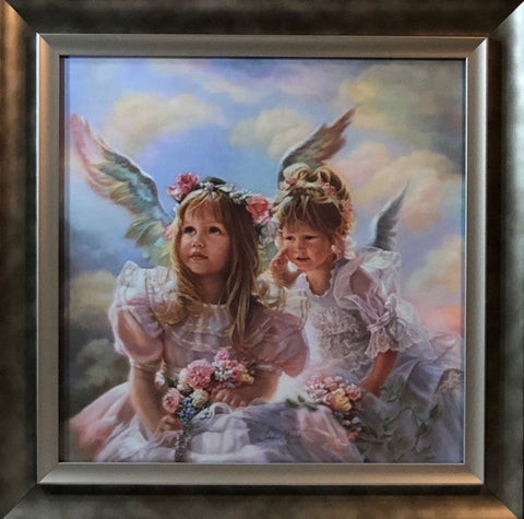 Sandra Kuck Heavenly Whisper Children Angel Art Print-Framed