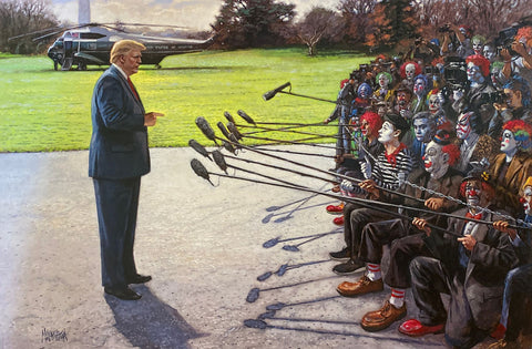 Jon McNaughton You Art Face News Donald Trump Art Print-15 x 10