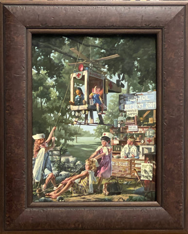 Bob Byerley The Healing Art Children Doctor Nurse Art Print-Framed