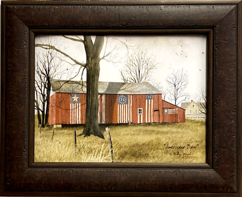 Billy Jacobs Americana Farm Barn Art Print-Framed