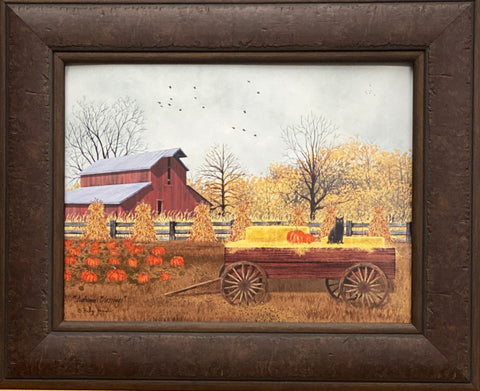 Billy Jacobs  Autumn Blessing Farm Country Art Print-Framed