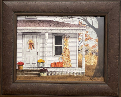 Billy Jacobs  Autumn Greetings Farm Country Art Print-Framed