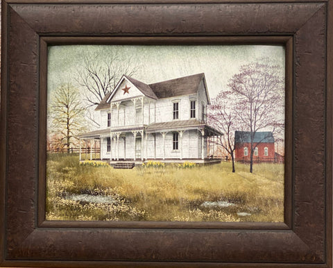 Billy Jacobs April Showers Farm Country Art Print-Framed