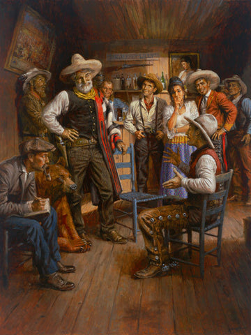 Andy Thomas Judge Roy Bean and His Court Canvas