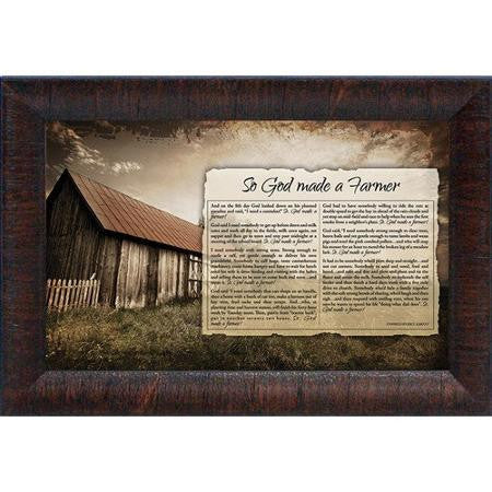 "Brett West ""So God Made a Farmer"" Framed"