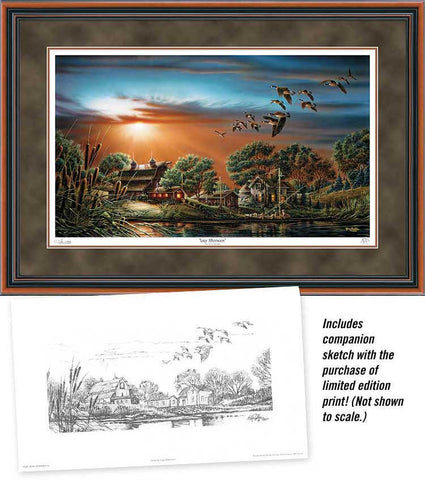 Terry Redlin Lazy Afternoon S/N Print-Framed