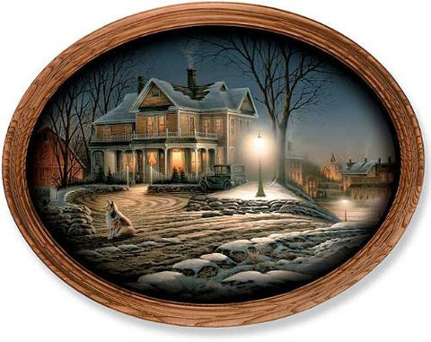 Terry Redlin Lights of Home Oval Print