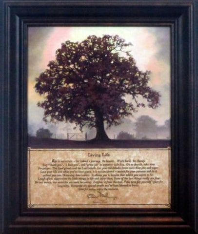 Bonnie Mohr Living Life Tree inspirational Framed Art Print  10 x 12