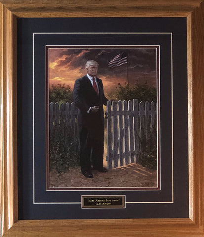 Jon McNaughton Make America Safe Donald Trump Art Print Framed