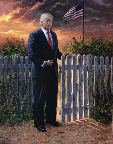 Jon McNaughton Make America Safe Again Donald Trump Art Print-11 x 14