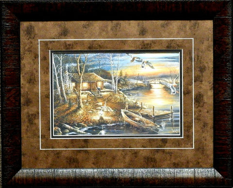 Ray Mertes Droppin In Duck Cabin Art Print-Framed 21 x 17