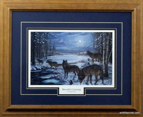 Mary Pettis Moonlit Crossing - Framed