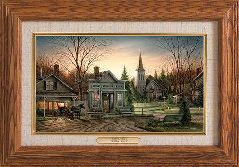 Terry Redlin Office Hours Master Stroke-FREE SHIPPING