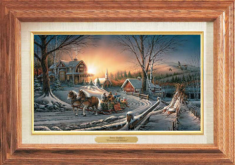 Terry Redlin The Pleasures of Winter-Master Stroke-FREE SHIPPING