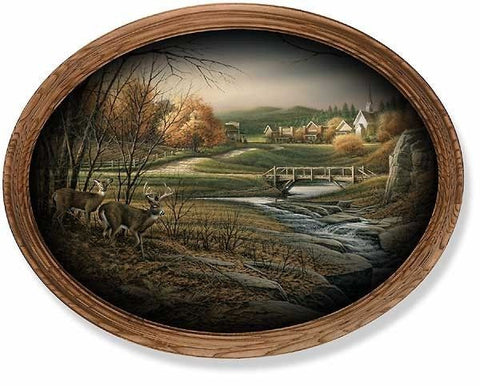 "Terry Redlin Indian Summer Oval Print - 19""x 15"""