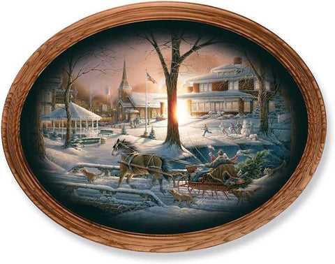 Terry Redlin Racing Home Oval Print