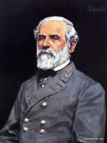 Bradley Schmehl Civil War painting of General Robert E. Lee