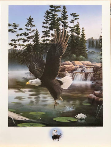 Leo Stans Boundry Waters Eagle Lake Art Print-Signed