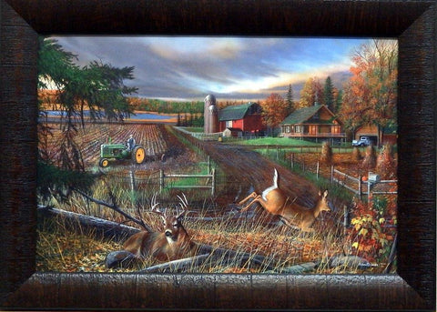 Kevin Daniel Dream Farm Pheasant Deer Art Print-Framed-Free Shipping