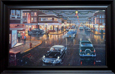 Ken Zylla Main Street in Season-Framed