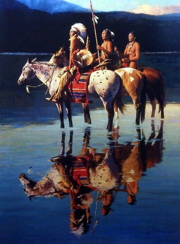David Mann Peace on Blue Lake
