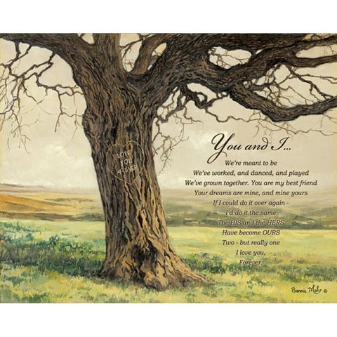 Bonnie Mohr Forever inspirational Art Print 20 x 16