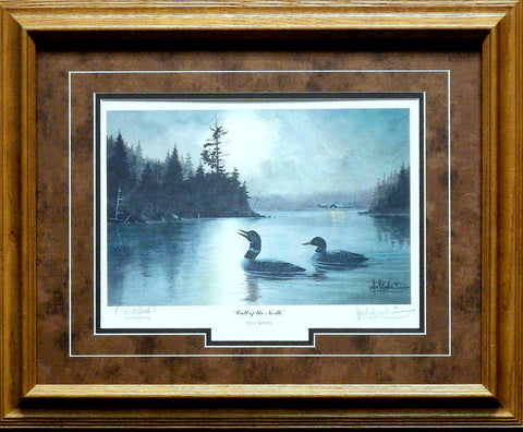 Les Kouba Call Of the North Loon Print-Framed