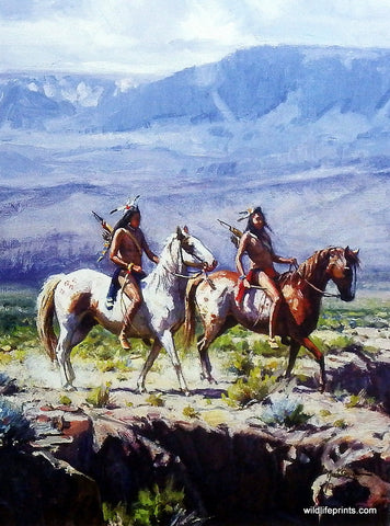 Martin Grelle Scouts in Rough Country