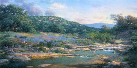 "Larry Dyke Shades of Spring 34"" x 17"""