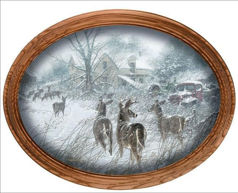 Michael Sieve The Homesteaders - Deer Small Oval Canvass