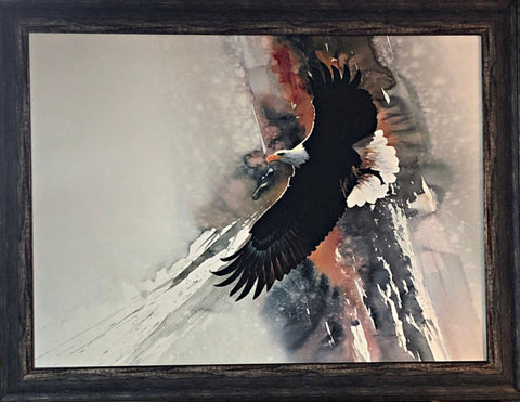 Morton Solberg Winged Victory Eagle Framed Print-35 x 27