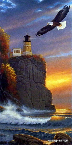 Derk Hansen Lake Superior Lighthouse Art Print