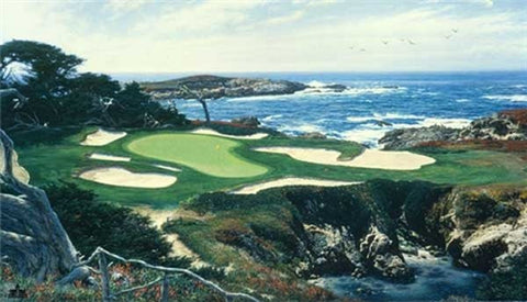 Larry Dyke The 15th at Cypress Point