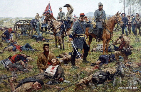 Bradley Schmehl Civil War Painting about the dark side of war