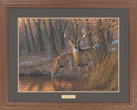 Michael Sieve Woodland Watering Hole Framed
