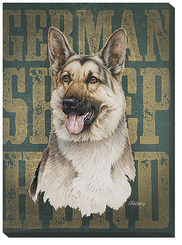 Jim Killen German Shepard-Wrapped Canvas