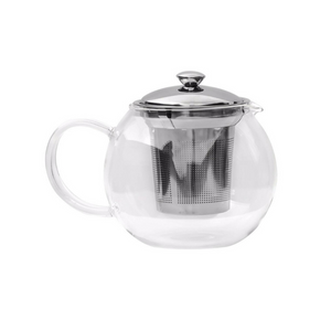 Glass Tea Kettle with Steel Infuser