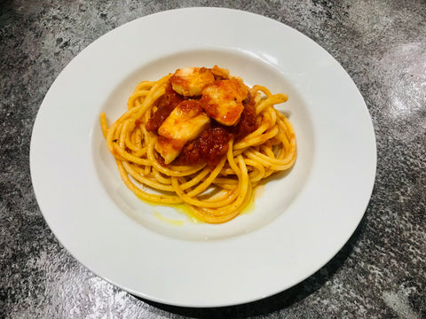 Spaghetti with Cod Ragu