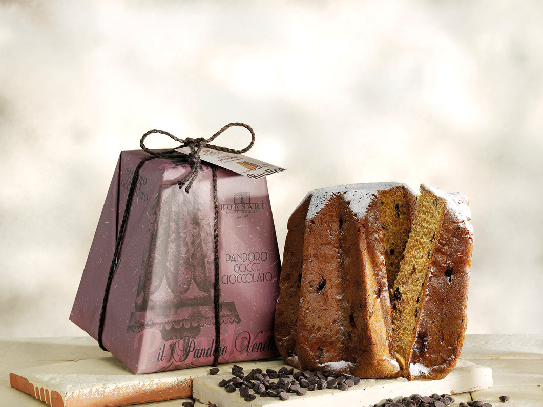 Borsari Pandoro with chocolate chips hand wrapped 1000g