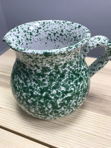 Ceramic Green Speckled Italian Traditional Jug 15cm - Tenuta Marmorelle