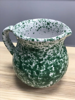 Ceramic Green Specked Italian Traditional Jug 13cm - Tenuta Marmorelle