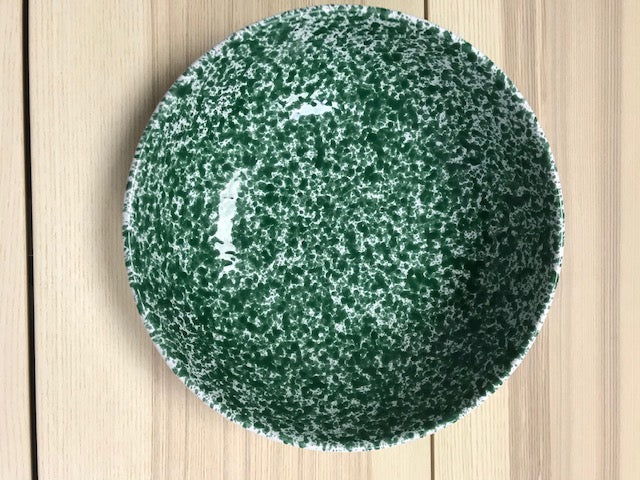 Ceramic Large Deep Bowl Green Speckled 25cm - Tenuta Marmorelle